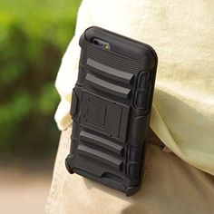 iPhone 6 Case - Exact Apple iPhone 6 4.7 Case [SideARM Series] - Rugged Holster Case with Kickstand for Apple iPhone 6 (4.7-inch) Black/Black Exact http://www.amazon.ca/dp/B00MOUEAJ6/ref=cm_sw_r_pi_dp_jjVeub167HN4P