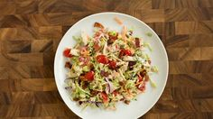 Use store-bought broccoli slaw as the base to make a yummy BLT salad