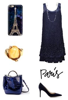 """Parisian blue"" by sensual-spirit ❤ liked on Polyvore featuring Chanel, Gianvito Rossi and Casetify"