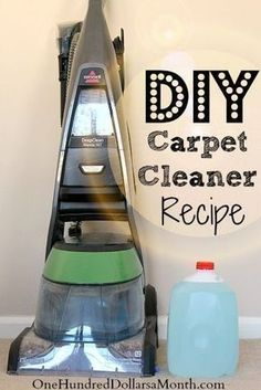 Tips for Steam Cleaning Carpets + My Favorite DIY Carpet Cleaner Recipe. Now that the holidays are over and the kids are headed back to school, I think it is time to whip out my steam cleaner {THIS is the one I have} and give the carpets a once over. I needed to wait until everyone would be out of the house long enough to...