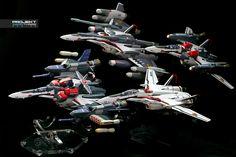 https://flic.kr/p/pmZmEv | Bandai DX Chogokin VF-25F Messiah Variants | Standard x Armored x Super x Tornado