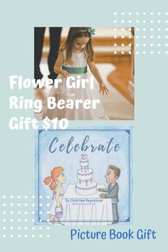 Picture books make the best gifts for flower girls and ring bearers. Tell a story about love, celebration, and the values that come with love.   #weddingpartygifts #ringbearerideas #ringbearergifts #flowergirlideas #flowergirlgifts #flowergirl #ringbearer #childrensbook #weddinggifts #giftideas #bridalpartygifts