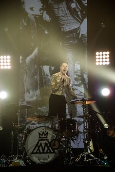 Andy Hurley during Save Rock And Roll my most favorite memory of the concert.