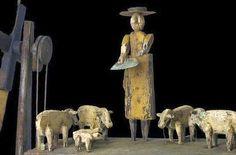 Lady Feeding Sheep Whirligig Circa 19th Century by Steve Hazlett.