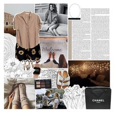 """Afraid"" by lucidmoon ❤ liked on Polyvore featuring ASOS, Xirena, Zephyr, NARS Cosmetics, Birkenstock and Chanel"