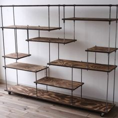 Spectacular DIY Farmhouse Shelves - Friseur Einrichtung - Shelves in Bedroom Pipe Furniture, Furniture Design, Furniture Ideas, Muebles Living, Iron Shelf, Diy Casa, Vintage Industrial Furniture, Industrial Pipe, Industrial Design
