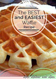 Waffle Mix Recipes, Breakfast Waffle Recipes, Best Waffle Recipe, Breakfast Waffles, Breakfast Dishes, Baking Mix Waffle Recipe, Best Waffle Mix, Waffles Recipe For 2, Pancake