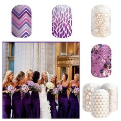 I love purple for a wedding!  Don't pay salon prices!