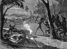 Warfare between squatters and Aborigines in South Australia