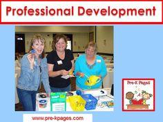 Professional development workshops and training for preschool, pre-k, and kindergarten teachers.