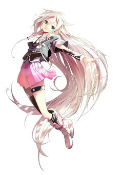 IA is Beautiful i wish she was not a background vocaloid. Check out her song Six trillion tears and an overnight story!