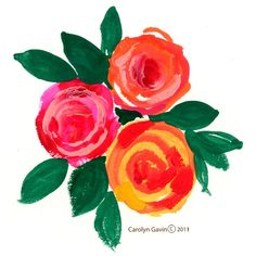 flower painting- I might be able to make something like this.