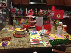 Left over Elmo set up