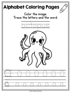 Alphabet printable activities for preschool and kindergarten. This pack of worksheets will make teaching and practice English uppercase and lowercase letters much easier. Your students will have so much fun coloring cute animals and alphabet pictures, tracing letters, practicing writing, and more. The kids practice letter recognition and handwriting in a creative way. These pages are perfect for morning work, small groups, early finishers #alinavdesign #alphabetpractice #alphabetworksheets #abcs Alphabet Tracing Worksheets, Alphabet Coloring Pages, Tracing Letters, Uppercase And Lowercase Letters, 1st Grade Activities, Back To School Activities, Beginning Sounds Worksheets, Alphabet Pictures, Letter Of The Week