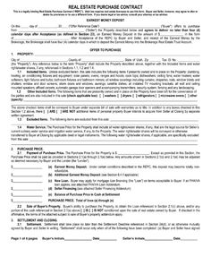 Real Estate Purchase Agreement. Property Sale. Free