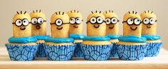 Despicable Me Cupcakes from Nerdy Nummies