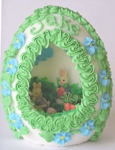 Remember these? We used to get one in our Easter baskets every year. I have one of my mother's sitting on the mantel for Easter.