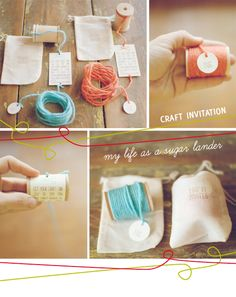 Nice Invitation for a craft party