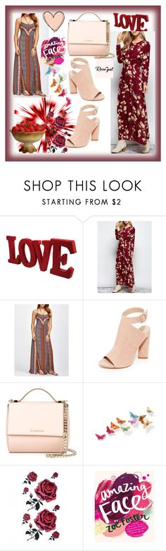 """ROSEGAL #53-II"" by nizaba-haskic ❤ liked on Polyvore featuring Kendall + Kylie, Givenchy, dresses and rosegal"