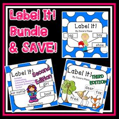 Practice the skill of labeling! Get all three editions of LABEL IT! and save.