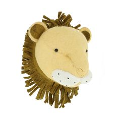 Hello Lion! The sweetest and softest faux taxidermy we've ever seen.
