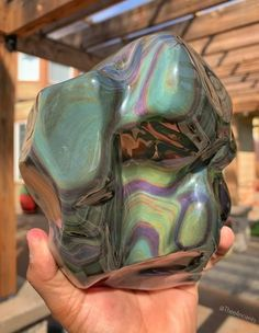 Rainbow obsidian sourced from Jalisco, Mexico, 4.7 pounds. Rainbow Obsidian usually looks quite black but when polished and exposed to a strong light, it shows bands of beautiful rainbow colors. It is the stone of the gentle, sensitive and soft-hearted people of the world. Meditating with Rainbow Obsidian is said to be able to take you on a journey that leads you to a place of an inner 'flooding of Light' illuminating the darker corners of unresolved past issues.