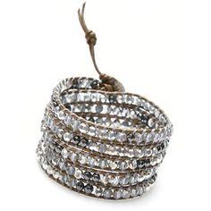 Nakamol Ellora Wrap Bracelet-Clear Mix