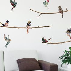 WallsNeedLove.com: Tapestry Birds & Branches Decal