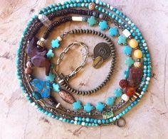 9 feet of natural gemstones in beautiful by JulieMoloneyDesigns, $150.00