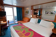 A standard balcony cabin onboard Norwegian's Pride of America (photo: Cruise Critic)