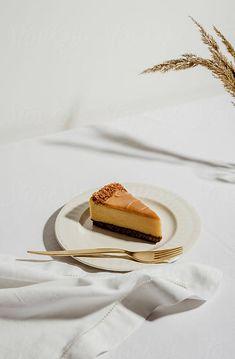 Caramel cheesecake by Tatjana Zlatkovic for Stocksy United Fun Baking Recipes, Snack Recipes, Dessert Recipes, Cooking Recipes, Caramel Cheesecake, Starbucks Recipes, Food Photography Tips, Aesthetic Food, Food Cravings