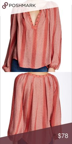 New Free People Desert Sun Long Sleeve Top XS Brand new with tag! Super cute. V- neck long sleeve. XS Free People Tops Blouses