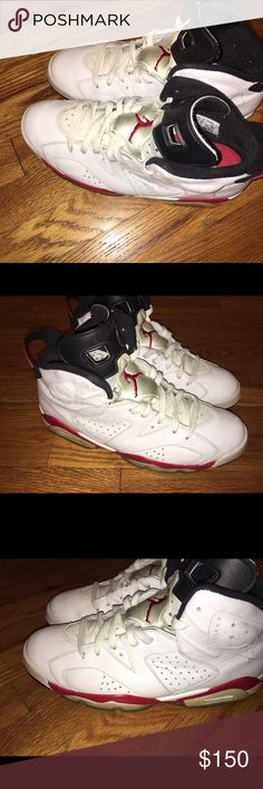 """2010 Release Air Jordan Retro 6 """"Chicago Bulls"""" OG 2010 Release Air Jordan Retro 6 """"Chicago Bulls"""" Size 10.5. Missing box. Sneaker is original, not fake. Selling it because it doesn't fit any more. This sneaker was release in 2010 and it hasn't been released again. Condition is 8/10. Shipping and handling cost will be $25, US Postal Service Priority Mail (3-5 business days). Jordan Shoes Sneakers"""