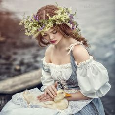 Margarita Kareva (previously) from the Russian city of Ekaterinburg is a wedding photographer making magic photos of women. She only started her photographer… Estilo Lolita, Magic Women, Photo D Art, Fantasy Photography, Medieval Fantasy, Photos Of Women, Faeries, Character Inspiration, Renaissance
