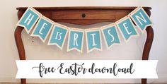 Printable: Free Easter Banner