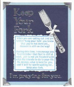 .Keep your fork