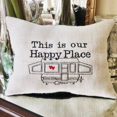 Pop Up Camper RV Decor This is Our Happy by MakingSomethingHappy