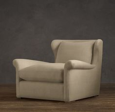 Belgian Wingback Upholstered Chair (Chair option #2)
