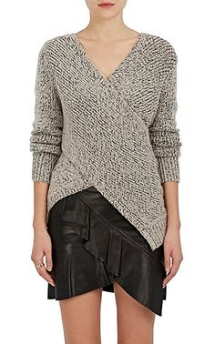 We Adore: The Stockinette-Stitched Crossover Sweater from Derek Lam 10 Crosby at Barneys New York