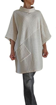 Sewing clothes tunics pockets ideas for 2019 Sewing Clothes, Diy Clothes, Clothes For Women, Boho Fashion, Womens Fashion, Fashion Design, Linen Dresses, Dressmaking, Dress Patterns