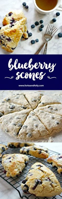 Homemade Blueberry Scones with Vanilla. A bakery favorite made easy.
