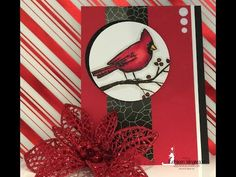 Masculine Card Stampin' Up! Joyful Season and Copic Markers 10 19 2015 - YouTube