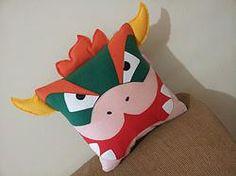 Handmade Bowser Super Mario Bros Pillow $29.95 #nintendo http://www.rbitencourtusa.com/#!product/prd1/2735393251/handmade-bowser-super-mario-bros-pillow