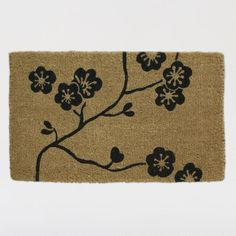One of my favorite discoveries at WorldMarket.com: Cherry Blossom Doormat