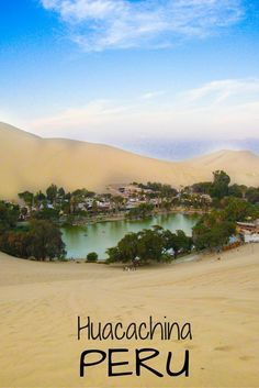 Huacachina, Peru is literally a paradise in the Peruvian desert! Click to find out about all of the fun stuff you can try there, including sand boarding and flying over the dunes!