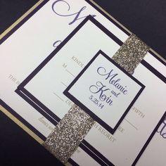 Modern Wedding Invitations on Etsy, $5.25