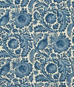 Shop Waverly Tucker Resist Indigo Fabric at onlinefabricstore.net for $23.95/ Yard. Best Price & Service.