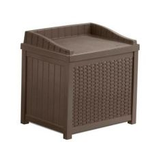 22 Gallon Resin Wicker Storage Seat