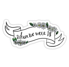 Pegatinas «18» de girlwiththetea | Redbubble One Direction Fotos, One Direction Tattoos, One Direction Lyrics, One Direction Pictures, Doodle Lettering, Lettering Styles, Hand Lettering, Printable Stickers, Cute Stickers
