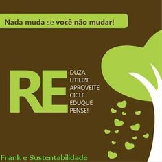 FRANK E SUSTENTABILIDADE: MUDE SEUS HÁBITOS SE NÃO NADA MUDA !!!! Save Planet Earth, Save The Planet, Life Purpose, Design Thinking, In My Feelings, Mood Boards, Sustainability, Environment, Planets